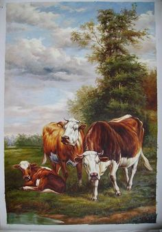Famous Paintings of Cows | the cows painting,by Canvaz team