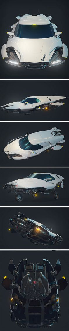 Think 'Back to the Future' meets 'Blade Runner' with this gorgeously retro inspired/cyberpunk futuristic hovercar. If you can visualize something close to that, then you've arrived at the Cardinal, the concept hover car of tomorrow designed by Karol Miklas.