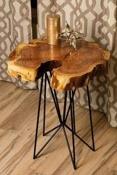 Rustic chic reclaimed urban wood live egde wood slab tables made in Phoenix including modern coffee tables, accent tables, C-Tables, Sofa/Console Tables.