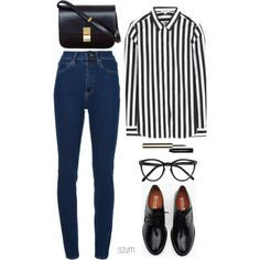 A fashion look from April 2013 featuring Marc Jacobs blouses, Wood Wood jeans and Brixton oxfords. Browse and shop related looks. Cute Fashion, Fashion Outfits, Womens Fashion, Fashion Trends, Mode Chic, Mode Style, Winter Outfits, Casual Outfits, Cute Outfits