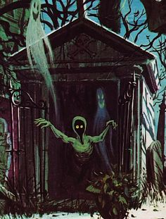 "vintagegal: "" Collin Campbell's painting for the cover of the ""Story and Songs of The Haunted Mansion"" LP (1969) """