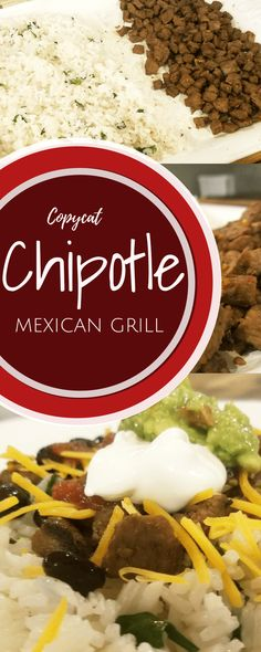 Copycat Chipotle is a great way to have this tex mexdish in the comforts of your home and at much less cost! A Chipotle, Moes or Qdoba Copycat! Recipe Using Chicken, Chicken Recipes, Mexican Food Recipes, Vegetarian Recipes, Chipotle Copycat Recipes, Fast Healthy Meals, Beef Dishes, Easy Dinner Recipes, Dinner Ideas