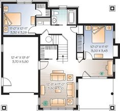 Discover the plan 3947 (Gordon) which will please you for its 4 bedrooms and for its Cottage, chalet, cabin styles. Basement Remodel Diy, Basement Remodeling, Basement Ideas, Basement Plans, Basement Bedrooms, Cottage Plan, Cottage Style, Cottage Ideas, The Plan