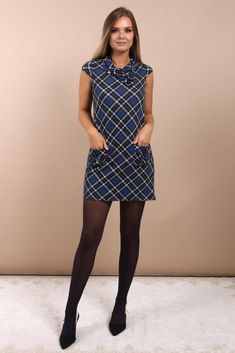 This cute little plaid print dress is adorable! I just love the cowl neck, cap sleeves, and pockets. This piece is so easy to wear and is a staple in my wardrobe. I like to dress it up for more formal events and fun nights out or dress it down for every day wear. It is so versatile. What I love most is the simple yet classy look of this outfit. Make people notice you when you walk in the door by getting this gorgeous dress in the Virgo Boutique Store! #womensfashion #clothing Simple Outfits, Outfits For Teens, Autumn Clothes, Plus Size Fashion For Women, Occasion Wear, How To Look Classy, Gorgeous Dress, Autumn Fashion, Cowl Neck