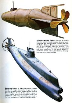 A midget submarine is any submarine under 150 tons[citation needed], typically operated by a crew of one or two but sometimes up to 6 or with little or. Midget Submarine, Yellow Submarine, E Boat, Imperial Japanese Navy, Military Weapons, Navy Ships, Dieselpunk, Battleship, Planer