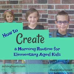 Create a morning routine that will bring peace instead of stress before the bus!  I have five tips to lead you into a better morning with your kids.