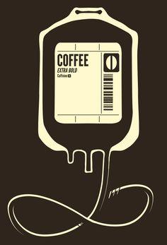 """Coffee Transfusion"" Art Print by Tobe Fonseca on Society6."