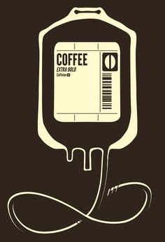 """Coffee Transfusion"" Art Print by Tobe Fonseca on Society6."