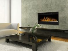 Electric Fireplace Linear Synergy