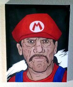 Danny Trejo Super mario bros 8x10 pop art by Creativezootshirts $20