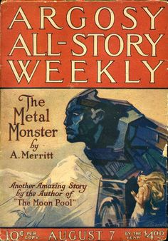 Tellers of Weird Tales: A. Merritt Art Gallery-The Metal Monster