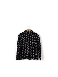Vintage Mickey Mouse  Long Sleeve Black Turtle Neck T by polomocha