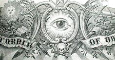 ANTIQUE 1894 MYSTIC OCCULT Fine ODD FELLOWS Symbolic ENGRAVED ART! Ritual SKULL
