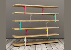 DIY Colorful Shelves