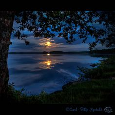 Scandinavian Summer Night, Laxå, Örebro, SWEDEN. By Filip Nystedt Night is never totally dark during summer - especially when it is full moon. Photo taken at 23:42 hrs local time