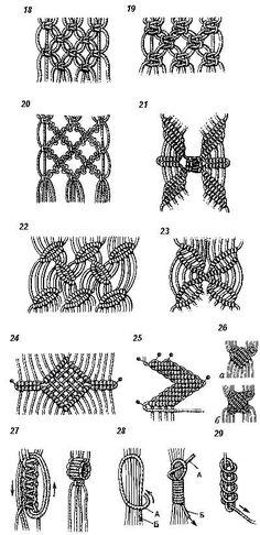 Макраме - узелки на память (список основных узлов для плетения изделий): женский интернет журнал - Записки Дикой Хозяйки: