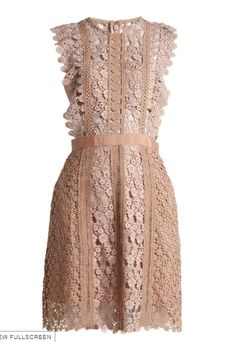 a49528b44902 Daisy-vine lace mini dress by self-portrait. Highlighting Self-Portrait's  penchant for ultra-feminine silhouettes this mini dress is crafted from ...