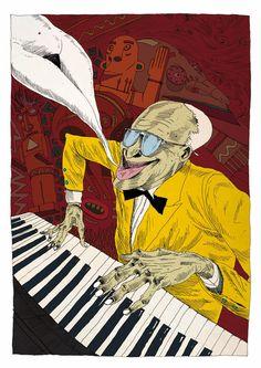 Acid Jazz Essential – Illustrator – Olivier Bonhomme