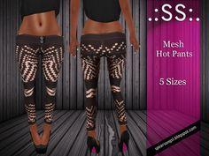 .:SS:. Mesh Black Pink Hot Pants