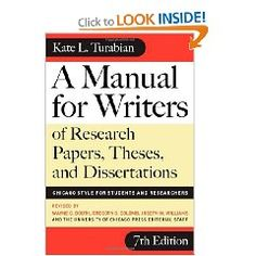 kate turabian a manual for writers of term papers