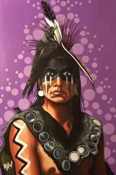 oglala sioux warrior  painted by riel benn