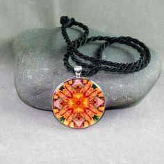 Dragonfly Pendant Sacred Geometry Mandala Kaleidoscope Necklace Opulent Solace for Kim $20