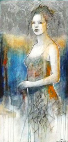 CIEL D'ARGENT - Joan Dumouchel - 48'' x 24'' - technique mixte sur toile