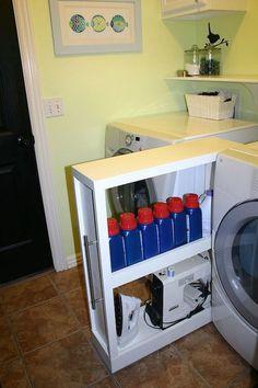 Laundry Room Shelves, Laundry Room Remodel, Small Laundry Rooms, Laundry Storage, Laundry Room Organization, Laundry Room Design, Diy Storage, Storage Shelves, Storage Ideas