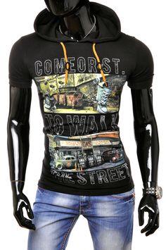 T-shirty : KOSZULKA (COMEOR 743) - CZARNY