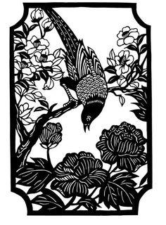 Bird On A Branch Paper Cutting by CutsByDeborah on Etsy