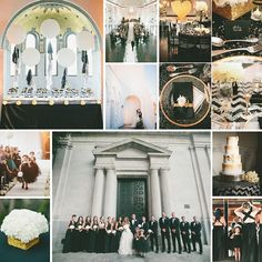 #Glamorous black and #gold #LA #wedding featured on @greenweddingshoes. #Gorgeous details and #stunning #venue @omyBeloved @vibianaevents #glam #classic #chic #stylish #city #losangeles #california #weddingplanning #weddingplanner #inspiration #moodboard #monday