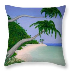 Tropical Invitation Throw Pillow for Sale by Faye Anastasopoulou Throw Pillow, print,home,accessorie