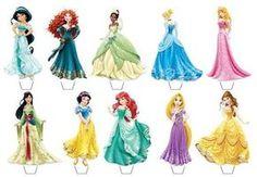disney princess cupcake toppers free printable - Google Search: