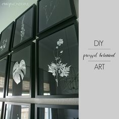 Crazy Wonderful: pressed botanical | tutorial