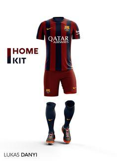 Fc Barcelona Football Kit on Behance Football Team Kits, Soccer Kits, World Football, Nike Football, Football Jerseys, Barcelona Football Kit, Barcelona Team, Barcelona Futbol Club, Sports Uniforms