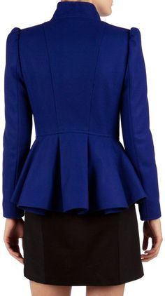 Peplum jacket love
