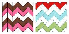 Diferencia entre los dos zig-zag Chevron, Boy Quilts, Quilt Blocks, Quilt Patterns, Patches, Blanket, Quilting, Herringbone, Sewing Projects