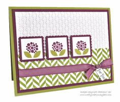 Bright Blossoms Trio by mcalexab - Cards and Paper Crafts at Splitcoaststampers