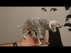 How to make a angry bull with allluminium paper in a few minutes! - YouTube