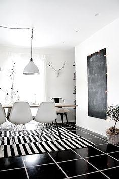 Home Decor - Black & White Kitchen