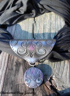 Handcrafted Polymer Scarf Jewelry  by CharlestonClayStudio on Etsy, $32.50