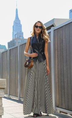 NYFW Street Style Recap  --   Skirt: Milly  |  Vest: Rebecca Minkoff  |  Bag: Chloe  |  Shoes: Louise et Cie and Nine West   |  Jewelry: c/o Visible Interest - Selin Kent  |  Sunglasses: Stella McCartney