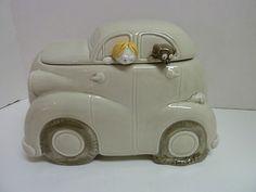 Auto Cookie Jar by Fitz Floyd C 1978 Cookie Jar boy and dog