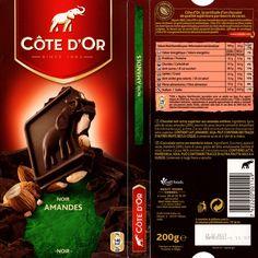tablette de chocolat noir gourmand côte d'or noir amandes