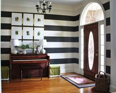 A Striped Entryway via emilyaclark.com