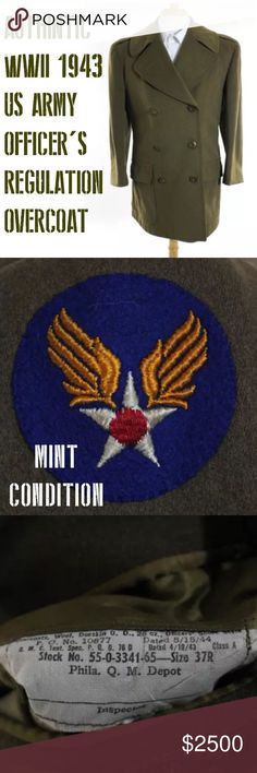 97915aa81c6 Authintic wwii collectors item mint condition coat