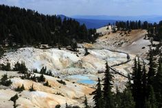 Bumpass Hell is named after Kendall Vanhook Bumpass  It is named Bumpass Hell because he actually fell in one of the steam geysers and ended up losing a leg. The area itself is a geothermal area that has many steam vents that expel steam and sulfur gases from the molten lava that is running 5 miles under this area and some of the water is so acidic it is like stomach acid. Some say this story is an urban legend. True or not, good story.  Lassen Volcanic National Park