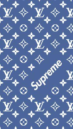 Louis Vuitton x Supreme pattern Wallpaper