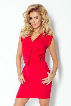 Look what I found on Red Surplice Dress Day Dresses, Dresses For Work, Surplice Dress, Long Sleeve Mini Dress, Lingerie, Stylish Dresses, Skirt Fashion, Fashion Addict, Fashion News