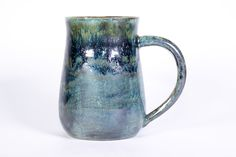Green metallic handmade ceramic mug Green Metallic Handmade Pottery Mug DETAILS – 3 sizes available – 12 ounces, 16 ounces and 20 ounces – Handmade Pottery, Handmade Gifts, Handmade Ceramic, Green Mugs, Pottery Mugs, Pottery Ideas, The Potter's Wheel, Clay Food, Stoneware Clay